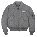 Куртка бомбер Alpha Industries CWU-45P Nomex Mil-Spec flight jacket, gun metal