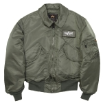 Куртка бомбер Alpha Industries CWU-45P Nomex Mil-Spec Flight Jacket, зеленая, sage green