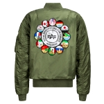 Куртка бомбер Alpha Industries MA-1 Coalition Forces Flight Jacket, sage green, MJM48503S
