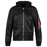 Куртка бомбер Alpha Industries MA-1 Natus Flight Jacket, black/new silver, MJM47506B/NS