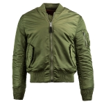 Куртка бомбер Alpha Industries MA-1 Slim Fit Flight Jacket, sage green, MJM44530SG