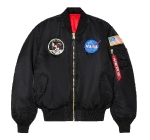 Куртка бомбер Alpha Industries Apollo MA-1 Flight Jacket, black/commander red, MJM21097B