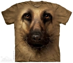 Футболка с 3D эффектом The Mountain German Shepherd Face