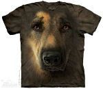 Футболка с 3D эффектом The Mountain German Shepherd Portrait