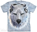 Футболка с 3D эффектом The Mountain White Wolf DJ