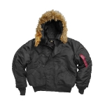 Куртка аляска Alpha Industries N-2B, black