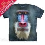 Футболка с 3D эффектом The Mountain Big Face Mandrill Baboon