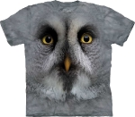 Футболка с 3D эффектом The Mountain Great Grey Owl Face