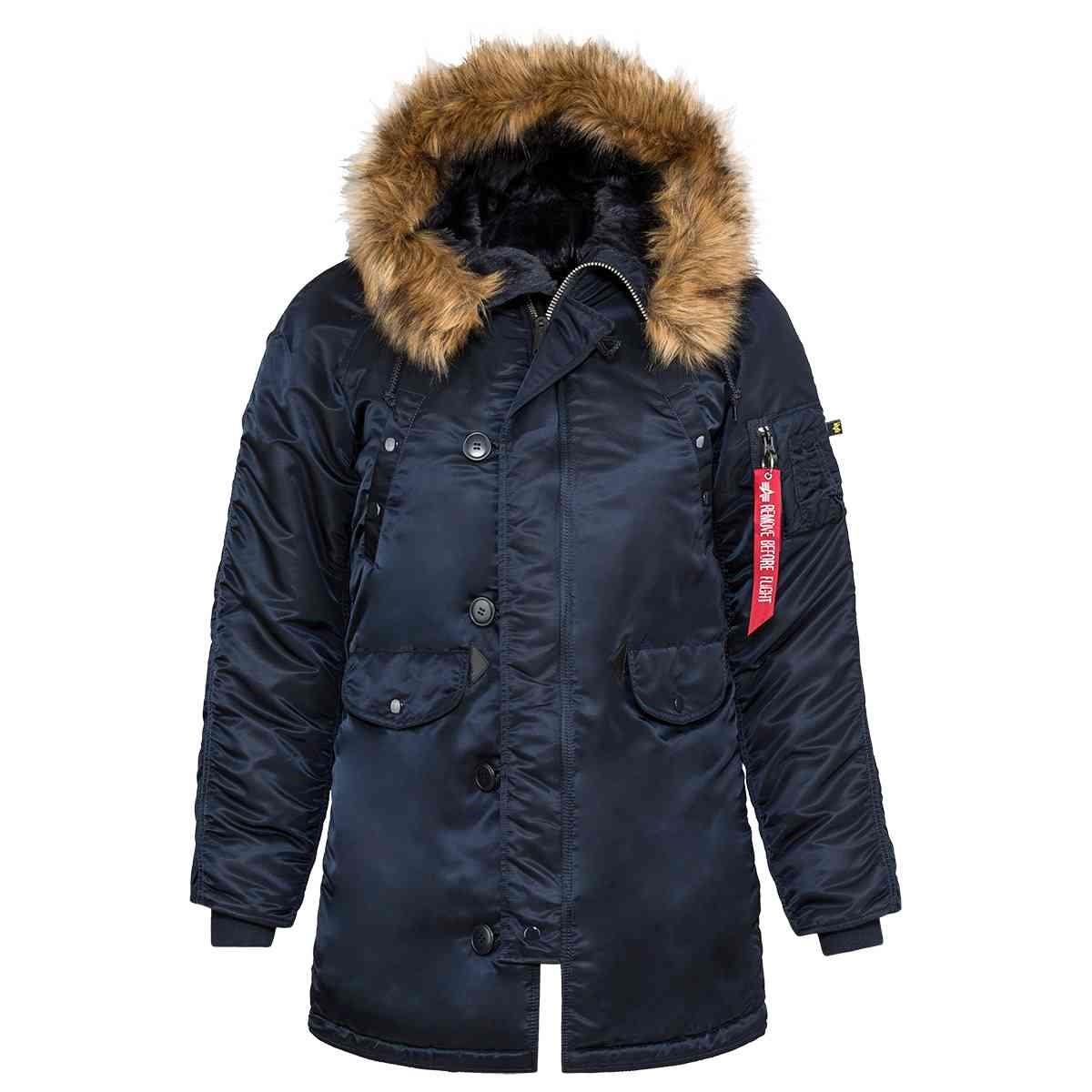 Куртка аляска женская Alpha Industries N-3B W Parka, blue-orange