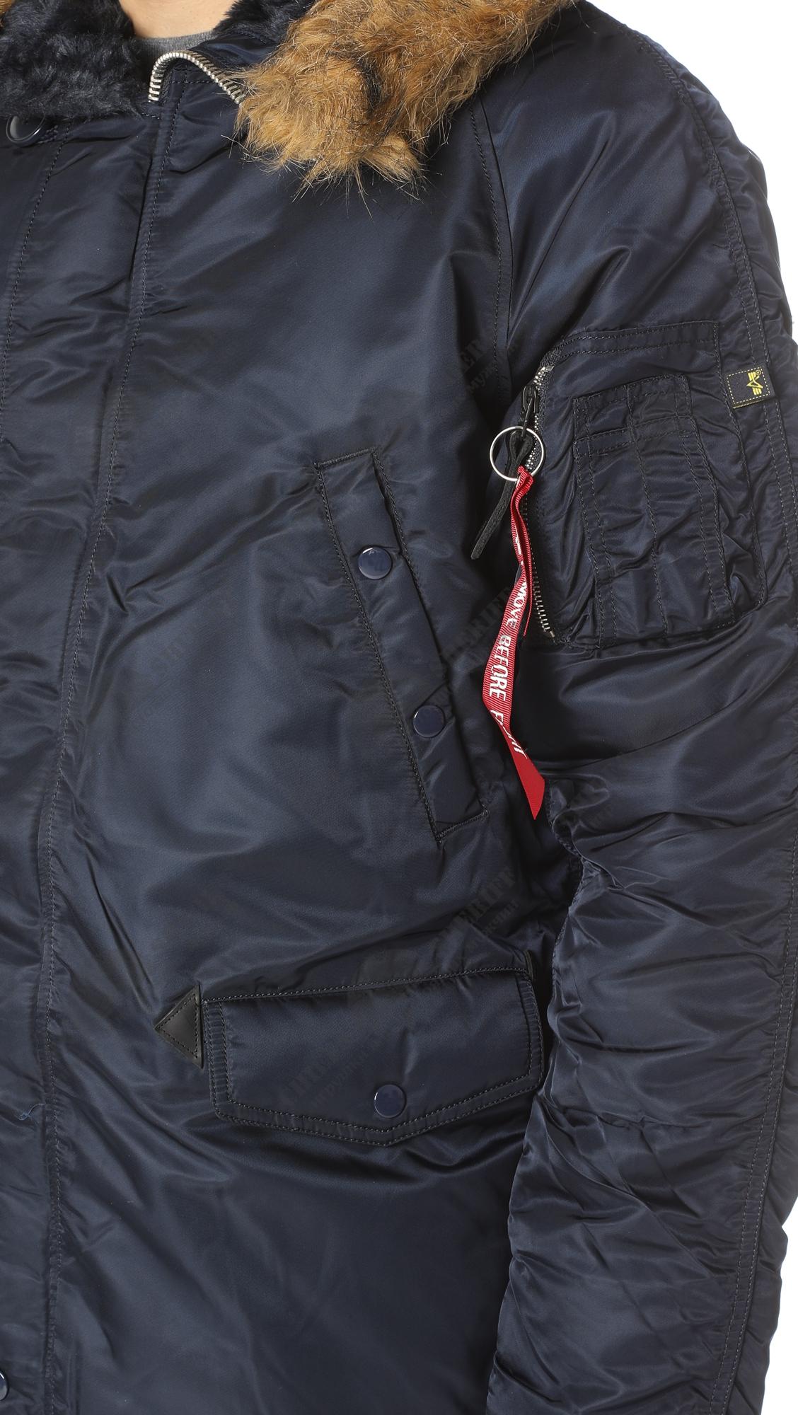 353214a257309 ... Куртка аляска Alpha Industries slim Fit N-3B, Parka, blue-orange
