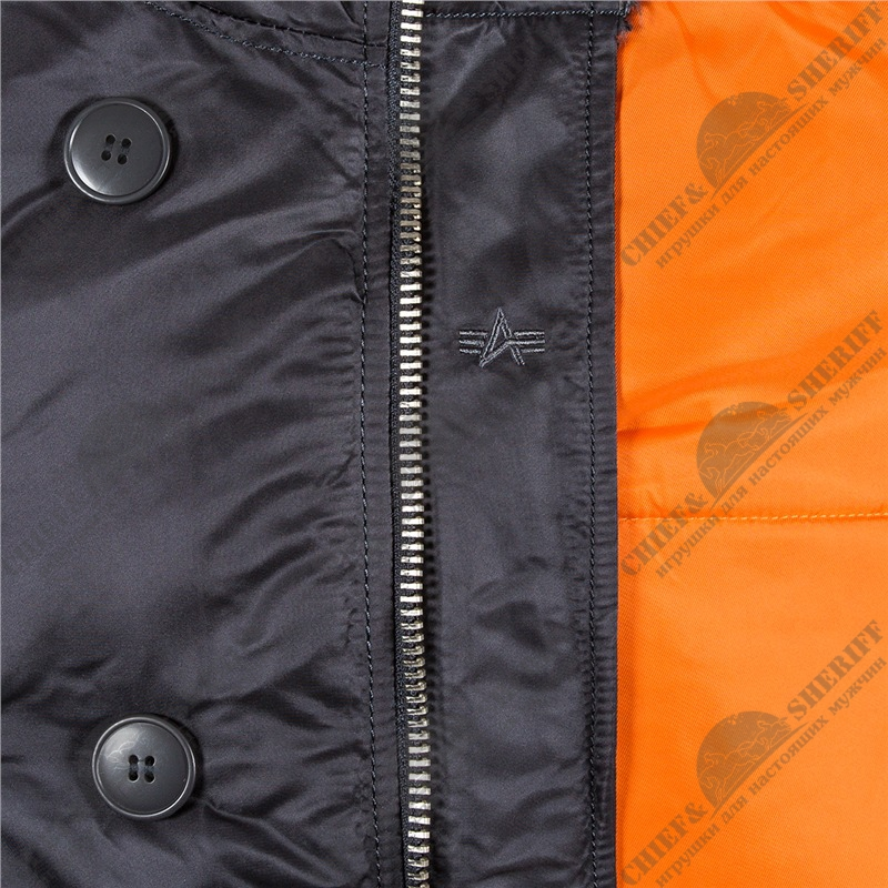 e9f0f28a ... Куртка аляска Alpha Industries slim Fit N-3B, Parka, steel blue-orange  ...