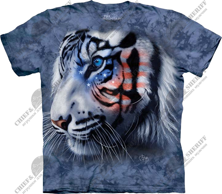 Футболка с 3D эффектом The Mountain Stars & Stripes Tiger