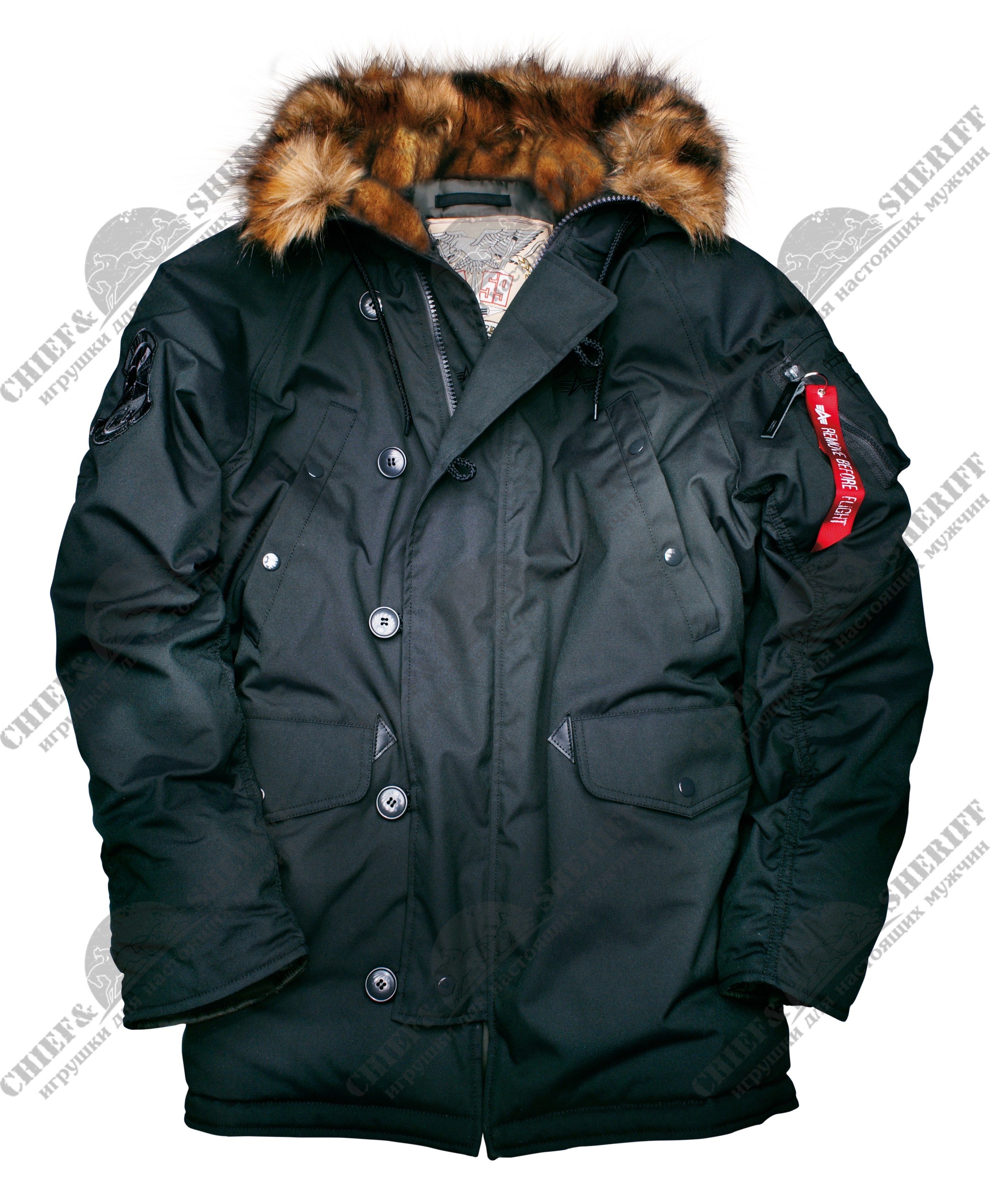 0bbe1f4c Куртка аляска Alpha Industries Explorer, black цена 9 240 р купить с ...