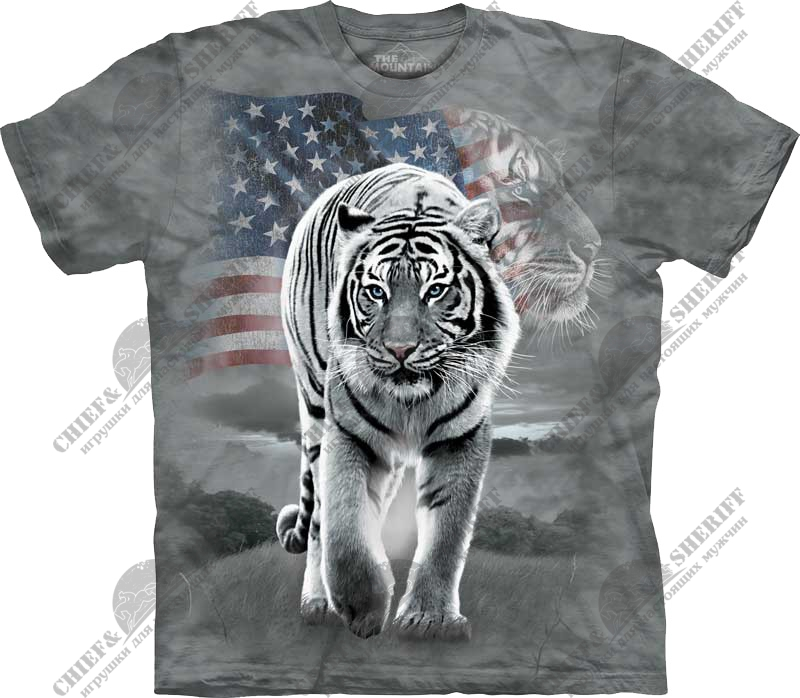 Футболка с 3D эффектом The Mountain Patriotic Tiger