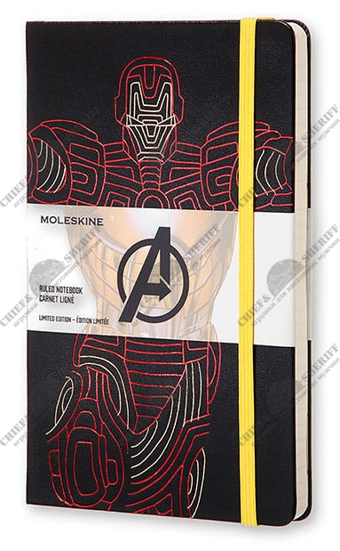 Блокнот Moleskine Limited Edition The Avengers Мстители Large, 130х210 мм, 240 стр., линейка, Ironman, 400929