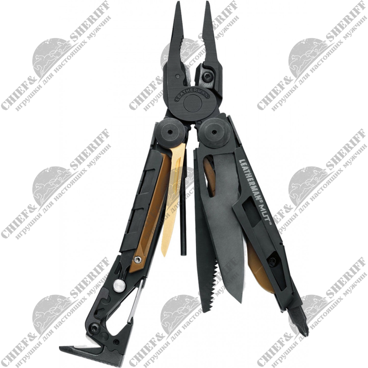 Мультитул Leatherman MUT, 127 мм, 16 функций, черный, 850122N