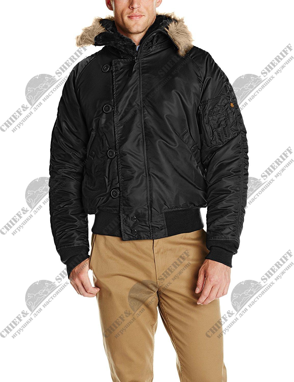 6c4a8219 Куртка аляска Alpha Industries N-2B, black цена 9 800 р купить с ...