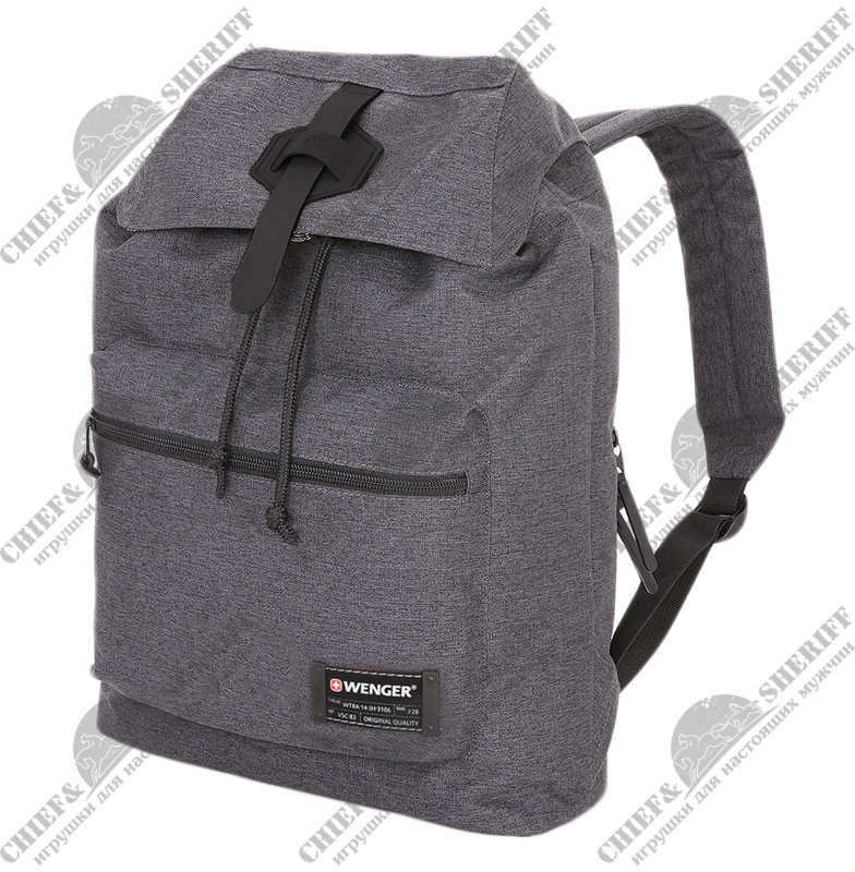 Рюкзак Wenger, 13'', cерый, ткань Grey Heather/ полиэстер 600D PU , 29х13х40 см, 15 л, 5331424403