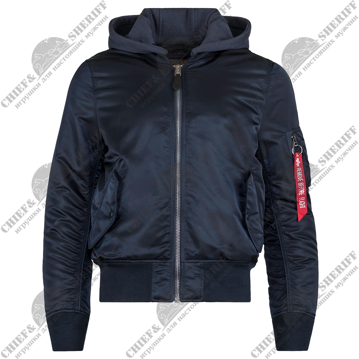 Куртка бомбер Alpha Industries MA-1 Natus Flight Jacket, replica blue/bLue, MJM47506RB/BL
