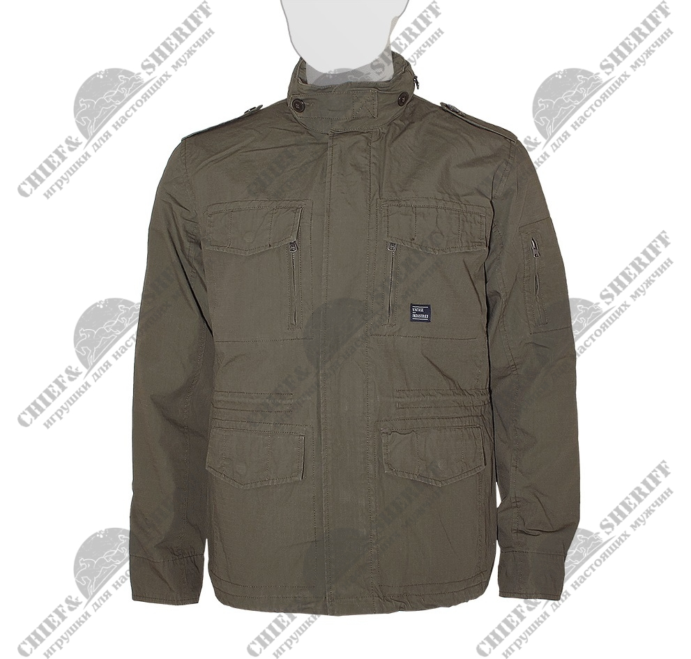 Куртка Vintage Industries Cranford Jacket, dark khaki, 2041DK