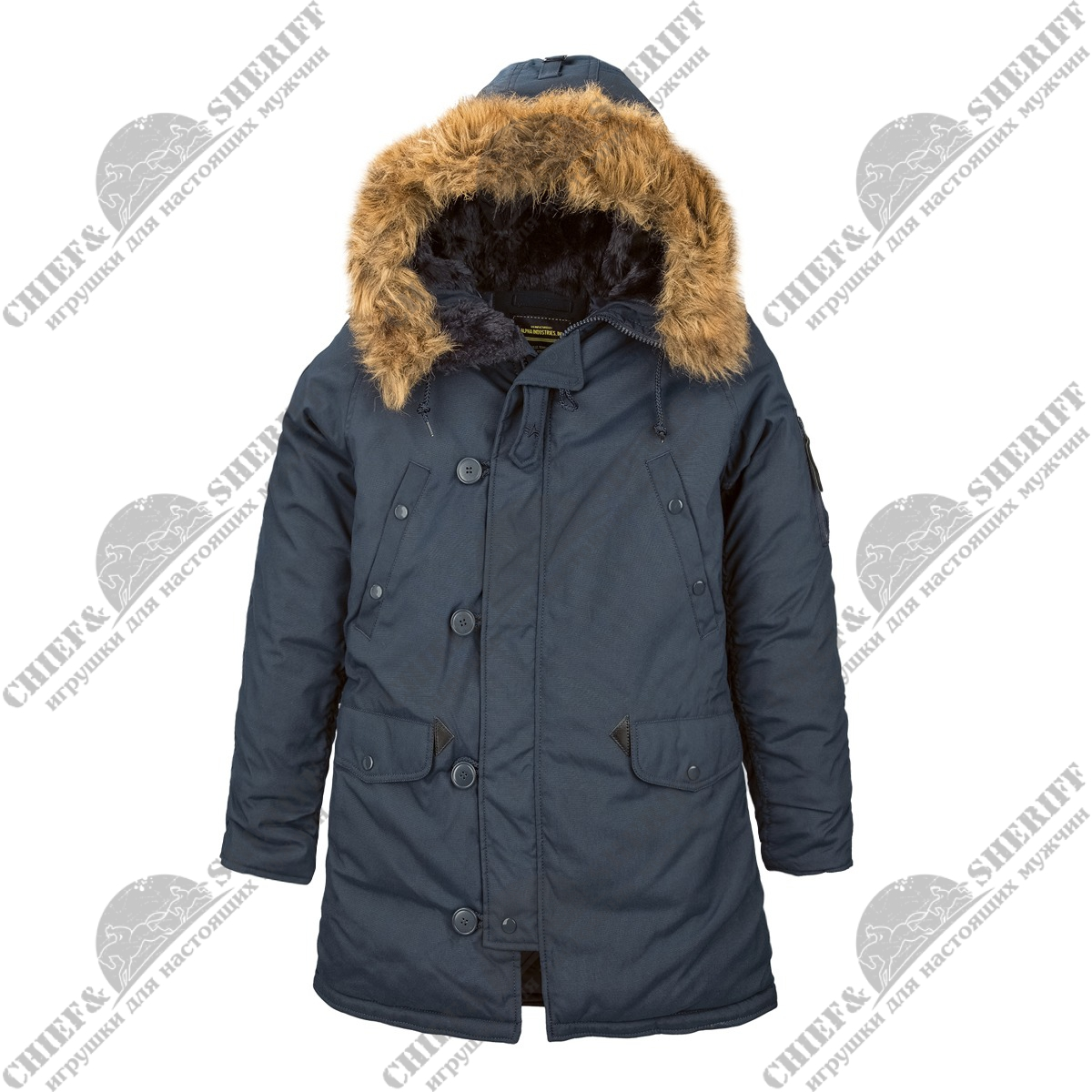 Куртка аляска Alpha Industries Altitude Parka, replica blue