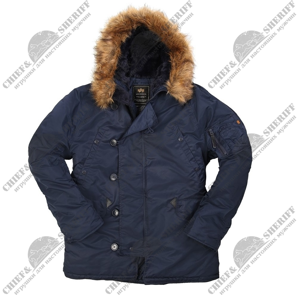 Куртка аляска Alpha Industries N-3B regular, Parka, blue-blue