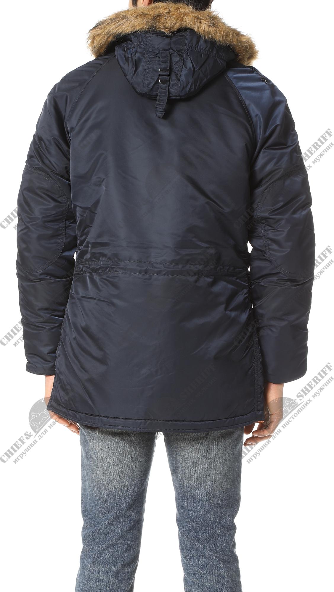 3844d5a2 ... Куртка аляска Alpha Industries slim Fit N-3B, Parka, blue-orange ...
