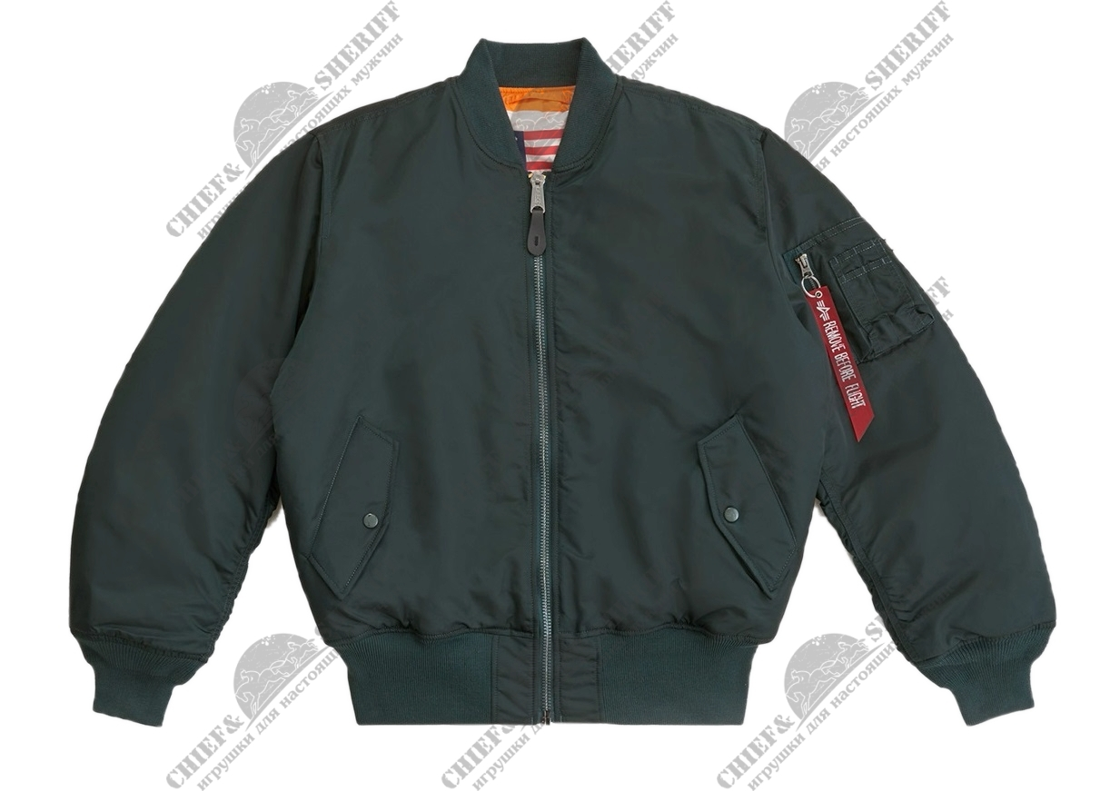 Куртка бомбер Alpha Industries MA-1 Blood Chit Flight Jacket, patrol green
